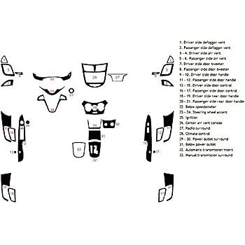 Wood Grain Burlwood Honey Rvinyl Rdash Dash Kit Decal Trim for Hyundai Sonata 2006-2008