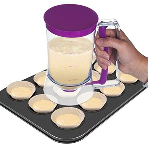 Yingwei Pancake Batter Dispenser Perfect for Baking of Cupcakes, Waffles,...