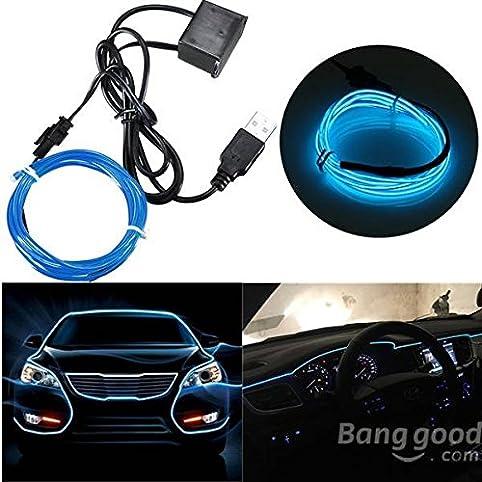 Bazaar 4M Single Color 5V USB Flexible Neon EL Wire Light Dance ...