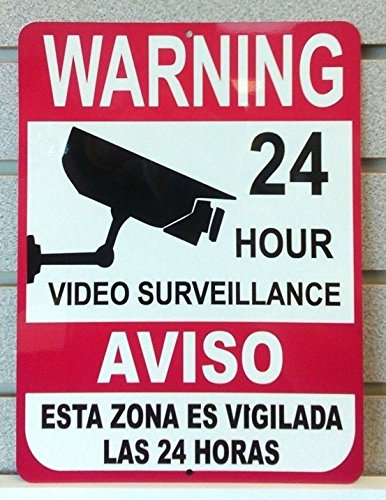 1-Pc Tops Popular Warning Aluminum Signs Door Surveillance Cameras In Use Video Reflective Size 9