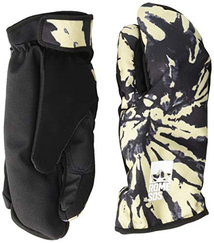 Rome Snowboards Men's Tailgate Trigger Snowboarding Gloves, Tie Dye, Small