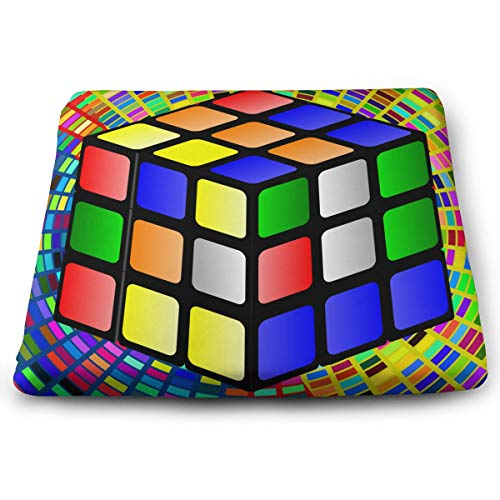DOVLbath Rubik's Cube Memory Foam Seat Cushion Square Chair Cushion Pad Fits Office for Cushioning Comfort