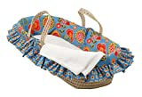 Cotton Tale Designs 100% Cotton Colorful Contemporary Floral Gypsy Girl Wicker Moses Basket
