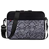 Kroo 10-11.6 Inch Laptop Sleeve Tablet Bag, Water Resistant Neoprene Notebook Computer Carrying Cover for Apple MacBook, Microsoft Surface, Chromebook (Black - Paisley Print)