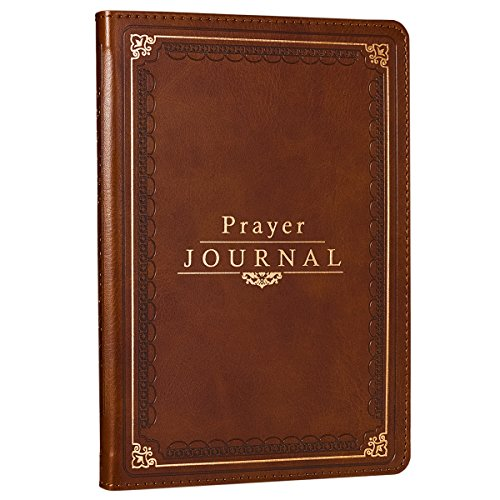Prayer Journal: Deep Tan Faux Leather Flexcover Bound