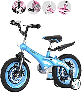 Kids' Bikes Children's Bicycles 12/14/16/male and Female Baby Bicycles 2-3-6-8 Year Old Children's Stroller Mountain Bike Bicycle Magnesium Alloy Frame Disc Brake (Color : Yellow, Size : 12inches)