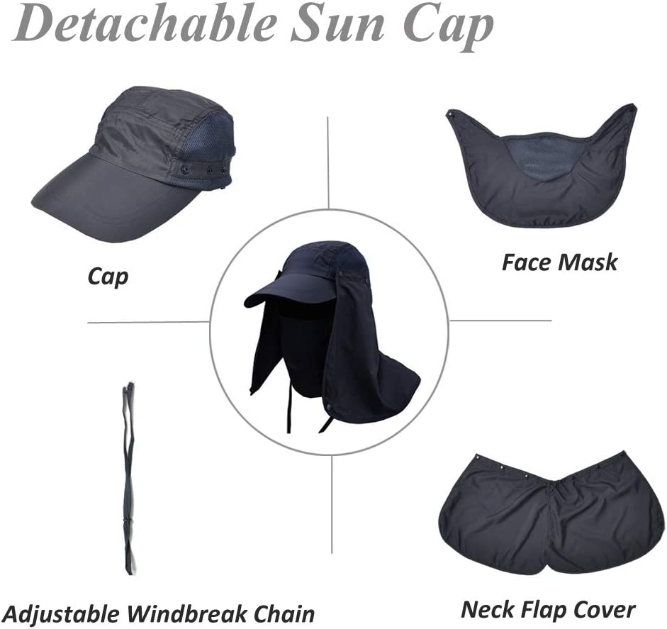 Protection Neck Face Cover Uv Hat Cap Sun Hiking Mask Outdoor Fishing Camping