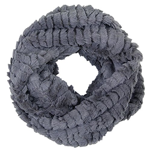 Me Plus Womens Warm Winter Soft Faux Fur Loop Solid Color Infinity Neck Warmer Scarf