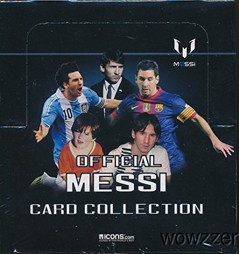 Lionel Messi Official Card Collection Factory Sealed 24 Pack Box with 120 Cards! All Cards Feature FC Barcelona World Champion Lionel Messi!  Plus Chance to Win Messi Match-Worn Shirt worth $15,000 !! from Wowzzer