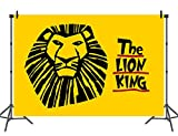 Sensfun The Lion King Photograpy Backdrop for Kids Yellow Drawing Birthday Party Decoration Banner Newborn Baby Shower Background Video Studio Photo Props 7x5ft
