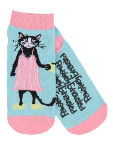 Pawsitively Exhausted Womens Ankle Socks