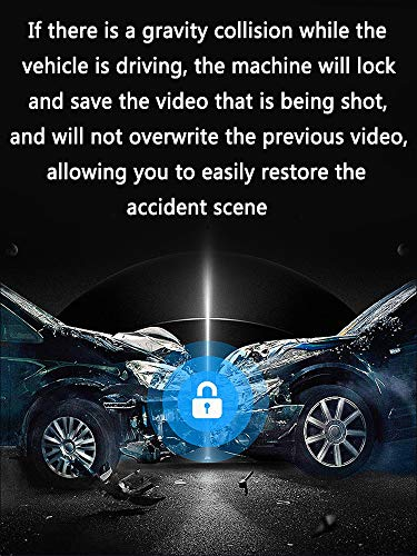 LIZONGFQ [2020 New Version] Mirror Dash Cam 12 Inches Touch Screen Full HD 1080P, Wide Angle Front Camera and Waterproof Rear Camera, Reverse Monitor System