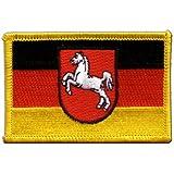 Aufnäher Patch Flagge Deutschland Niedersachsen - 8 x 6 cm