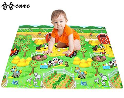 BBCare Soft Baby Play Mat - Happy Farm/ABC (130 x 230 CM) by BBcare