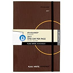 AT-A-GLANCE Planning Notebook 2017, One Day Per Page, 6 x 9\