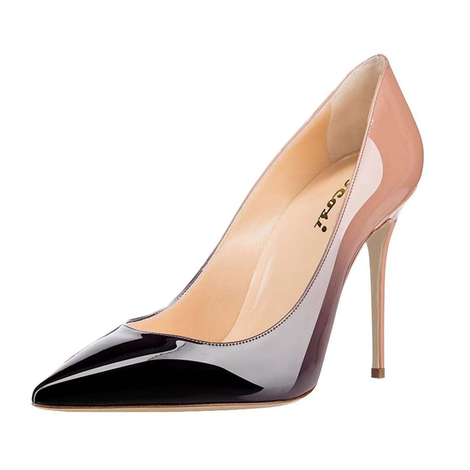 VOCOSI Women's Bzaaz Pointed Toe Pumps,Stilettos High Heels