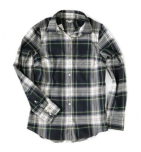 J Crew Factory Women's Plaid Button-Down Shirt (3X, Glen Plaid)
