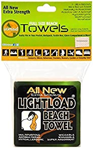Lightload Towels Large Non Micro Fiber Compressed Beach Swim Towel X Strong Packs in Your Pocket Quick Dry Sup