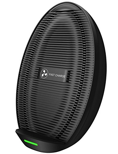 Seneo iPhone XS MAX Wireless Charger, Qi Certified Wireless Charging Stand Compatible with iPhone XS MAX/XR/XS/X/8/8 Plus, 10W for Galaxy Note 9/S9/S9 +/Note 8, 5W All Qi-Enabled Phones(No AC Adapter)