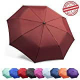 "Kolumbo Travel Umbrella Proven ""Unbreakable"" Windproof Tested 55MPH Sturdy, Durability Tested 5000 Times - Compact, UltraSlim Windmaster Umbrella, Auto Open/Close"
