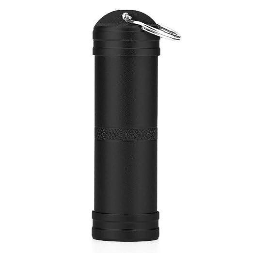 SuperglockT Mini Pillendose als Schl/üsselanh/änger Aluminium Wasserdicht Kapsel Beh/älter Outdoor Camping Reise Survival Notwerkzeug Aufbewahrungsbox Pille Box