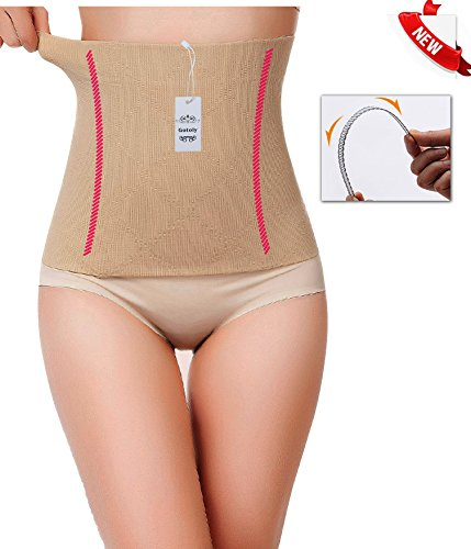 [Gotoly Novelty Halloween Costume Party Waist Trainer Tummy Fat Burner (L, Beige(2-3 day delivery))] (Fat Lady Costumes)