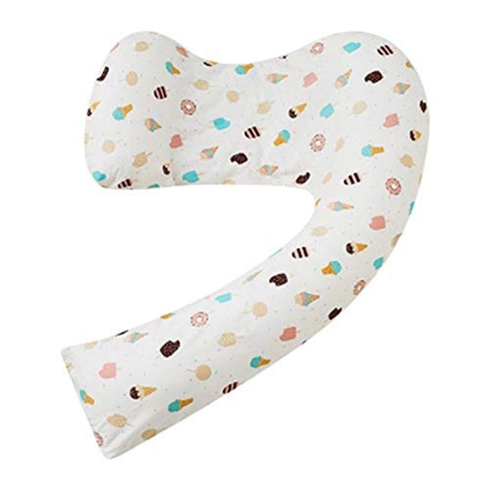 マタニティ枕妊娠中の女性のためのU字型ボディピロー J枕マタニティバックサポート抱きしめる授乳中のフルレングスサポート取り外し可能な洗えるジッパー付きカバー:J枕 B07SG3ZCW5