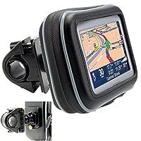 "ChargerCity Estuche de GPS resistente al agua con pantalla de 5 ""con tornillo de seguridad Soporte para motocicleta de bicicleta de servicio pesado Barra de montaje para Garmin Drive Asistencia inteligente Nuvi 58 57 56 55 52 51 50 2589 2597 LM LMT"