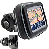 ChargerCity Universal Motorcycle / Bike Mount with Water Resistant Case for 4.3'' & 5'' inch GPS Garmin Nuvi Drive DriveSmart 50 51 52 54 55 56 58 57 42 44 45 2539 2555 2557 2595 2597 2598 2599 LM LMT