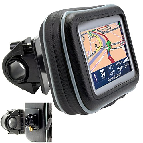 "ChargerCity Universal Motorcycle / Bike Mount with Water Resistant Case for 4.3"" & 5"" inch GPS Garmin Nuvi 50 52 54 55 56 58 57 42 44 45 2539 2555 2557 2559 2595 2597 2598 2599"