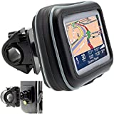"""ChargerCity 5"""" Screen Water Resistant GPS Case w/Security Screw Heavy Duty Bike Motorcycle Handle Bar Mount for Garmin Drive"""