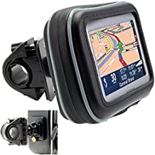 """ChargerCity Universal Motorcycle / Bike Mount with Water Resistant Case for 4.3"""" & 5"""" inch GPS Garmin Nuvi Drive DriveSmart 50 51 52 54 55 56 58 57 42 44 45 2539 2555 2557 2595 2597 2598 2599 LM LMT"""