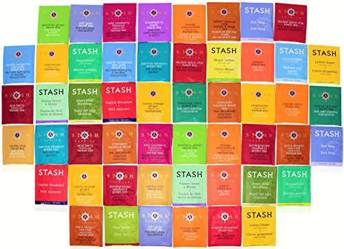 Stash Tea Bags Sampler Assortment Box - 51 COUNT - Perfect Variety Pack Gift Box - Gift for Family, Friends, Coworkers - English Breakfast, Green, Moroccan Mint, Peach, Chamomile and more by Blue Ribbon (Image #3)