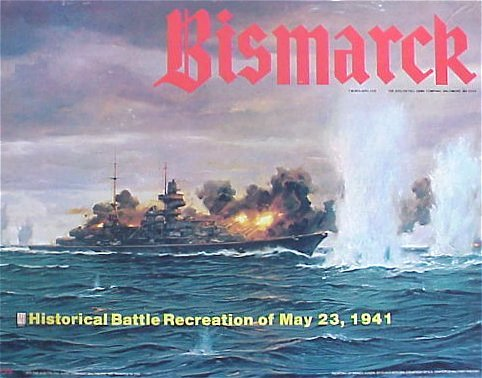 AH: Bismarck, Historical Battle Recreation of May 23, 1941, Board Game, [1978 version] -