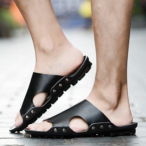 Transpirable Zapatillas Playa Negro Verano Apartamento Sandalias ALIKEEY Casual Hombres Sandalias Casa Zapatos 5gS1wyaqA