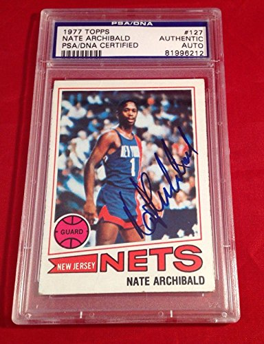Nate Archibald 1977 Topps Card Slabbed #81996212 - PSA/DNA Certified - Basketball Slabbed Autographed Cards
