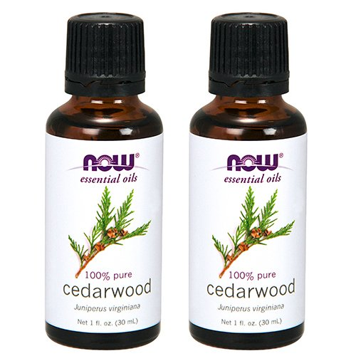 Oil Essential Virginiana - Now Foods Cedarwood Oil 1 ounce (Pack of 2)