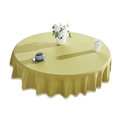 Strange Amazon Com Round Table Cotton Tablecloth Solid Color Download Free Architecture Designs Scobabritishbridgeorg