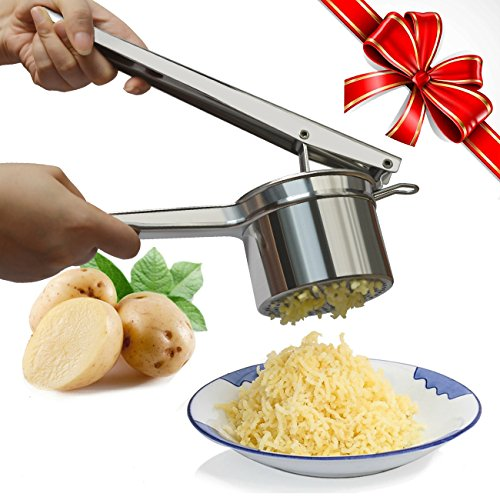 Potato Ricer, Warmhoming Stainless Steel Potato Masher for Fruit and ()