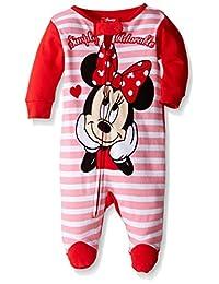 Disney baby-girls Baby Minnie Mouse 1pc Sleeper