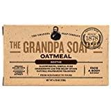 Grandpa's Old Fashioned Oatmeal Bar Soap for Face and Bath, 4.25 Ounce