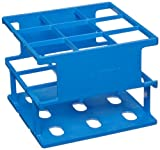 Nalgene 5970-0330 Acetal Plastic Unwire Test Tube Rack for 30mm Test Tubes, Blue
