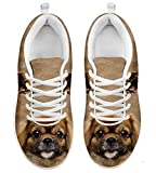 Cute Tibetan Spaniel Dog Print Women's Casual Sneakers (7)