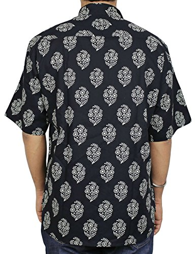Herren Premium Indische Gedrückt, Hawaiian Print Strand-Shirt Aus Baumwolle Für Männer