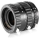 Neewer Auto Focus Metal Bayonet Macro Extension Tube Set for Canon DSLR Cameras Such as EOS 1d,1ds,Mark II,III,IV,5D Mark II,7D,10D,20D,30D,40D,50D,300D,350D,400D,450D,500D,550D,650D,700D,1000D