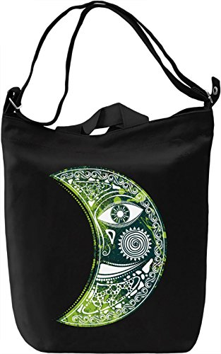 Green Moon Borsa Giornaliera Canvas Canvas Day Bag| 100% Premium Cotton Canvas| DTG Printing|