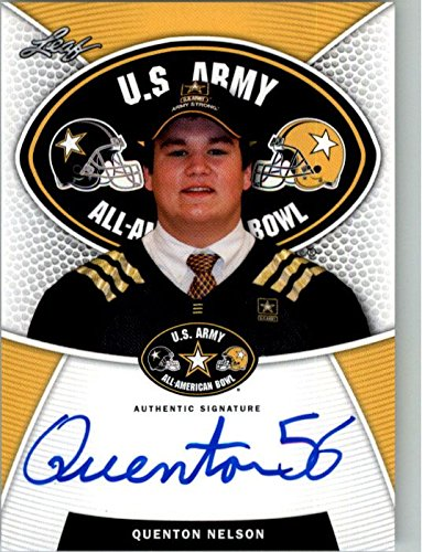 2014 QUENTON NELSON Leaf US Army Autograph Rookie Auto RC NOTRE DAME from Leaf