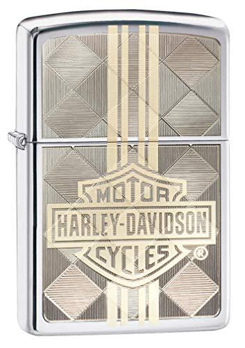 (Zippo Harley-Davidson High Polish Chrome Laser Two Tone Windproof)
