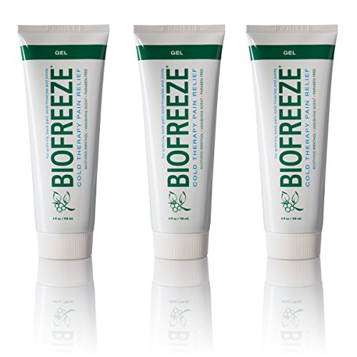 Biofreeze Pain Relief Gel, 4 oz. Tube, Pack of 3