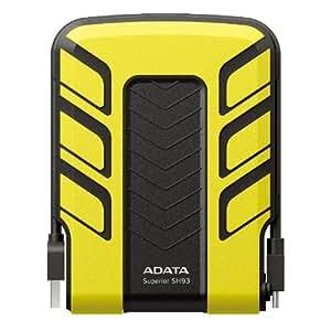 ADATA Waterproof/Shockproof 500 GB USB 2.0 External Hard Drive – ASH93-500GU-CYL (Yellow)